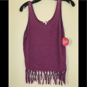 Purple Fringe Top.